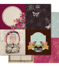 Ruby Rock-It Heritage Quarters Double-Sided Cardstock