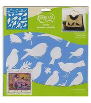 DecoArt Feathered Friends Decor Stencil 12''x12'', , hi-res