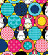Minion Flannel Fabric 42\u0022-Packed Puffy Circles