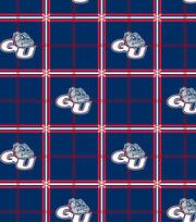 "Gonzaga University Bulldogs Flannel Fabric 42""-Plaid, , hi-res"