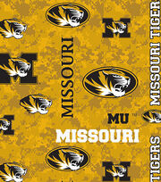 "University of Missouri Tigers Fleece Fabric 60""-Allover, , hi-res"
