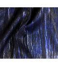 Silky Prints -  Crushed Satin Foil Black Blue
