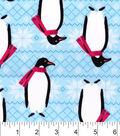 Snuggle Flannel Fabric 42\u0022-Winter Penguins