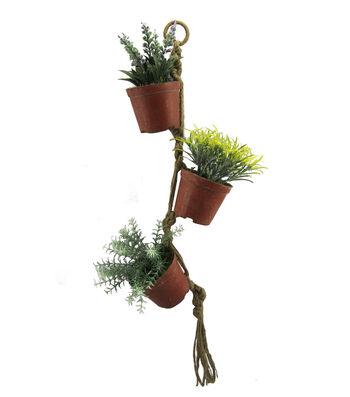 Blooming Spring 28'' Greenery Hanging Pot