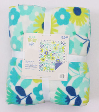 """No-Sew Throw Fleece Fabric 72""""-Fresh Cut Floral"""