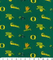 "University of Oregon Ducks Cotton Fabric 43""-Green, , hi-res"