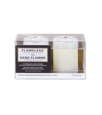 Hudson 43™ Candle&Light Collection 2 Pack Cream Votives Flameless
