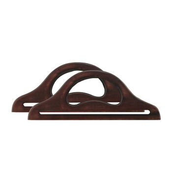 """Everything Mary Brown 13.5"""" Large Wooden Purse Handles-2pk"""