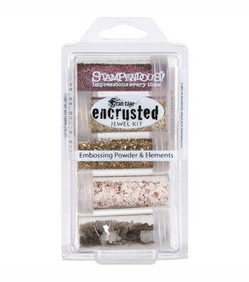 Stampendous Encrusted Jewel Kit-Pink