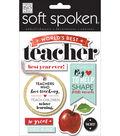 Soft Spoken Themed Embellishments-Apple