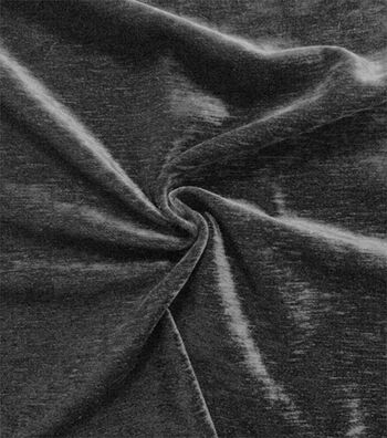 Signature Series Upholstery Velvet Fabric-Black