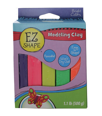 EZ Shape Modeling Clay Non-Hardening-Brights 5/Pkg
