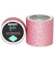 "Heidi Swapp Marquee Love Washi Tape .875""-Pale Pink Glitter, 10', , hi-res"