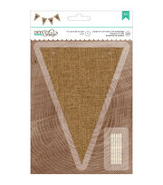 American Crafts DIY Shop 2 Natural Burlap Pennant Jute String Banner, , hi-res