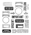Stampers Anonymous Tim Holtz Cling Mount Rubber Stamp-Mail Art
