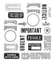 """Tim Holtz Cling Stamps 7""""X8.5""""-Mail Art, , hi-res"""