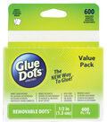 Glue Dots 1/2\u0022 Dots School Value Pack-600PK/Removable