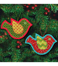 Dimensions® 3.5\u0027\u0027x5\u0027\u0027 Jolly Bird Ornament Felt Counted Cross Stitch Kit