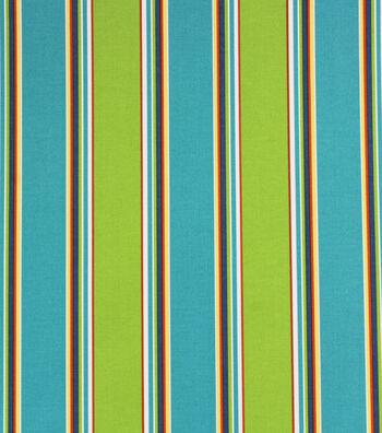 Solarium Outdoor Print Fabric 54''-Blue & Green Stripes
