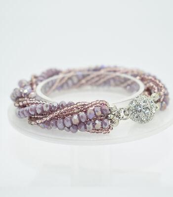 Crystal Multi Strand Bracelet-Lilac