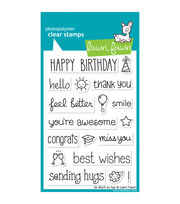 "Lawn Fawn Clear Stamps 4""X6""-So Much To Say, , hi-res"