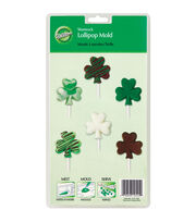 Wilton® Cookie Candy Mold-6 Cavity Shamrock Lollipop, , hi-res