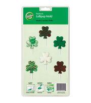 Wilton® Cookie Candy Mold-6 Cavity Shamrock Lollipop, , hi-res