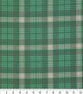 Christmas Cotton Fabric 43\u0022-Green Lodge Plaid