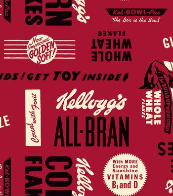 "Kelloggs® Cotton Fabric 43""-Cereal Slogans"