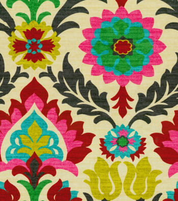 Waverly Upholstery Fabric-Santa Maria/Desert Flower