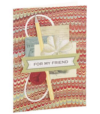 Anna Griffin Card Kit Birthday For My Friend Vintage
