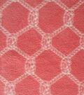 Nautical Rope Knot Fleece Fabric 59\u0027\u0027-Coral