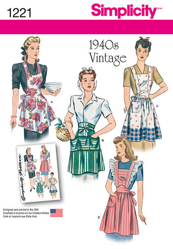 Simplicity Pattern 1221A S-M-L -Crafts