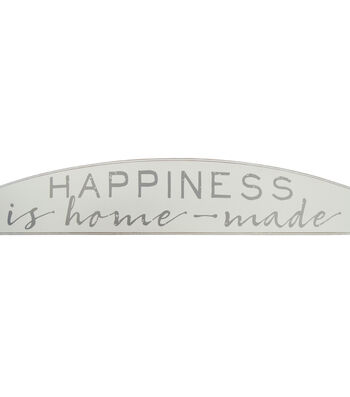 Arch Shaped Over The Door Sign-Happiness Is Homemade