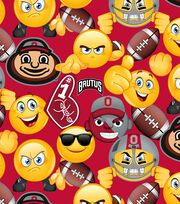 Ohio State University Buckeyes Cotton Fabric 43''-Emoji, , hi-res