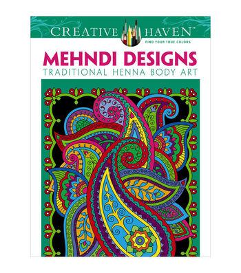Dover Creative Haven Mehndi Designs Coloring Book