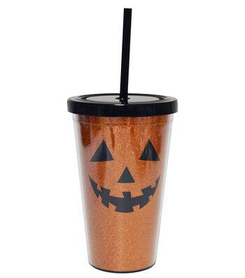 Wilton® Halloween 16oz. Glitter Cold Cup-Jack O Lantern