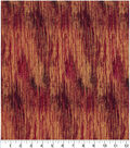 Asian Inspired Cotton Fabric 44\u0022-Gradient Lines Red Met