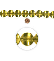 Blue Moon Strung Metal Beads,Flat Round,Gold, , hi-res