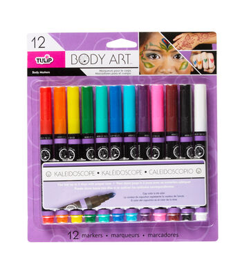 Tulip Body Art Multi Primary 12Pk Markers