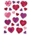 Wilton® Icing Decs 24/Pkg-Patterned Hearts