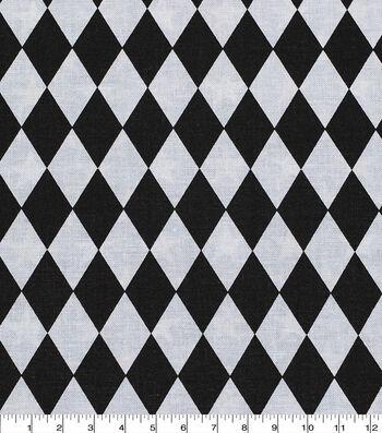 "Keepsake Calico™ Cotton Fabric 43""-Black and White Diamond"