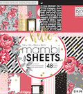 Mambi Single-Sided Paper Pad 12\u0022X12\u0022-Life Is Rosy