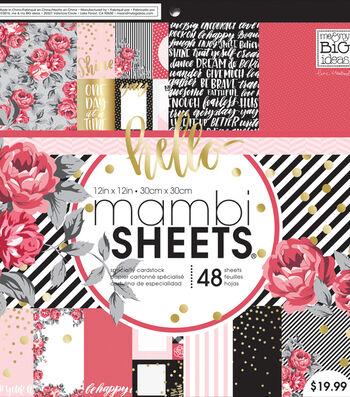 "Mambi Single-Sided Paper Pad 12""X12""-Life Is Rosy"