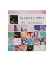 American Crafts™ Photo Real 12''x12'' Paper Pad-Marble Love, , hi-res