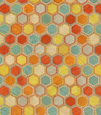 Iman Print Fabric-Gem Market Emb/Henna