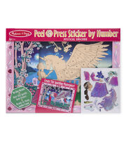 Melissa & Doug Peel & Press Sticker by Number - Mystical Unicorn, , hi-res