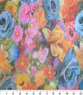 "Silky Prints Stretch Crepe Fabric 44""-Digital Floral"