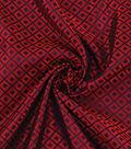 Yaya Han Cosplay Brocade Fabric 58\u0027\u0027-Blue Japanese Geometric on Red