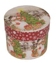 Maker's Holiday Medium Round Box-Snowman & Tree, , hi-res